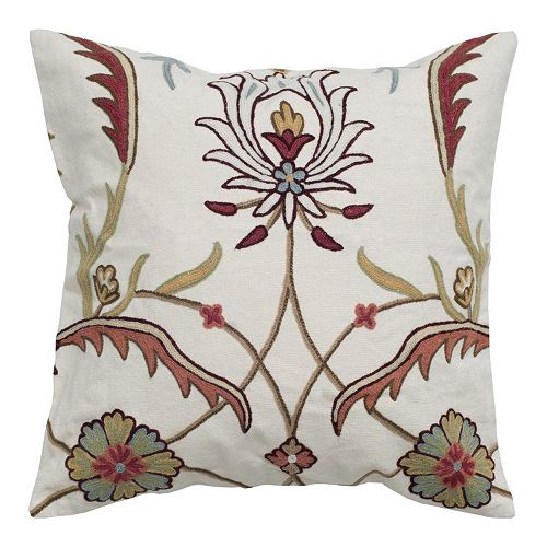 Rizzy Home Modern Floral Throw Pillow
