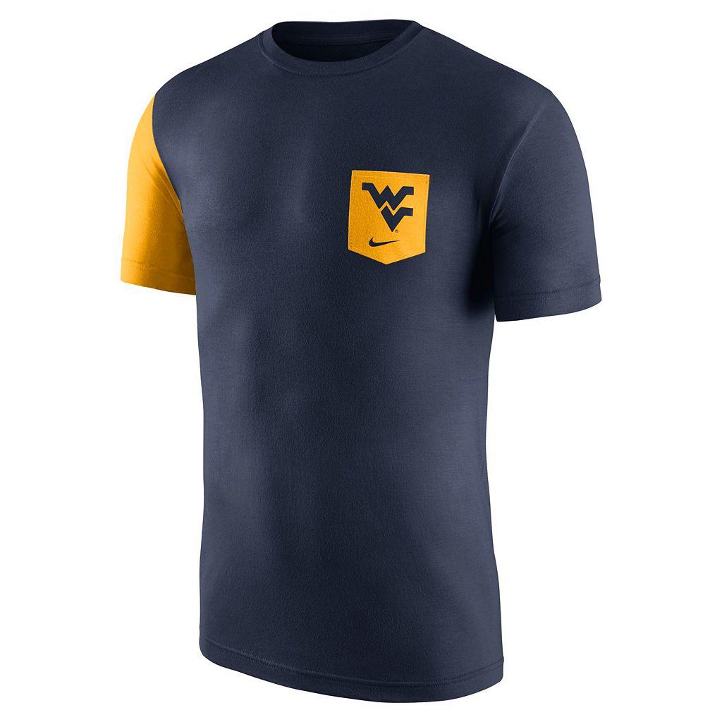 Men's Nike West Virginia Mountaineers Player Pocket Tee
