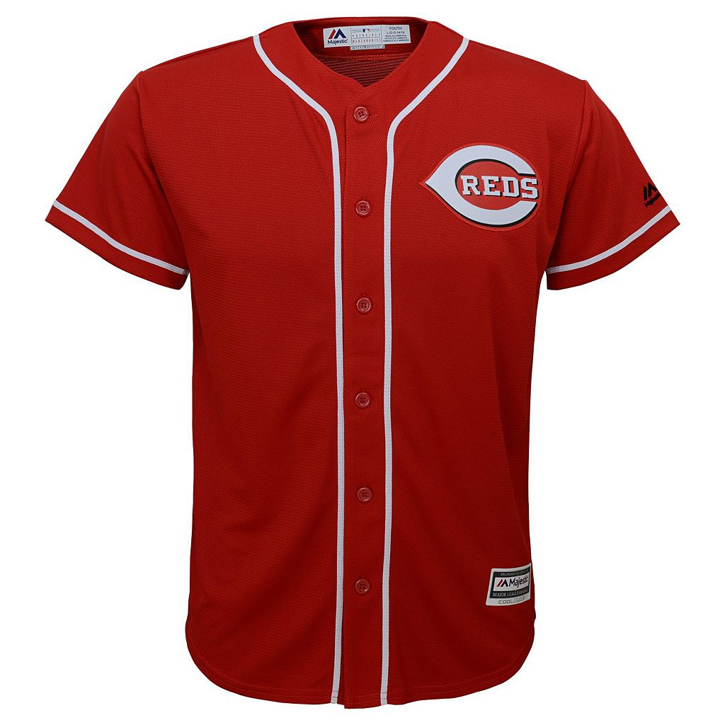 Boys 8-20 Majestic Cincinnati Reds Joey Votto Replica Jersey