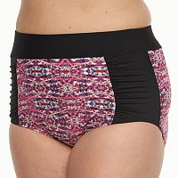 Plus Size Beach Scene High-Waist Scoop Bottoms