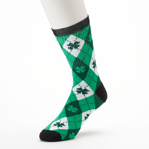19dfd1e11 Men's Two Sox St. Paddy's Day Argyle Clover Crew Socks
