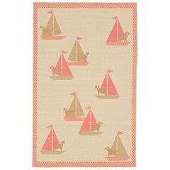 Liora Manne Playa Sailing Dogs Indoor Outdoor Rug