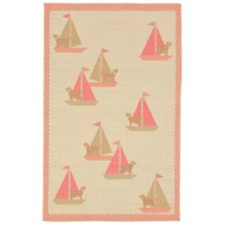 Trans Ocean Imports Liora Manne Playa Sailing Dogs Indoor Outdoor Rug