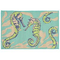 Liora Manne Playa Seahorses Indoor Outdoor Rug