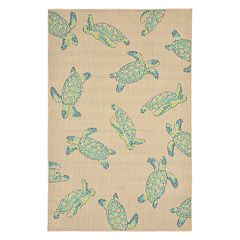 Liora Manne Playa Sea Turtles Indoor Outdoor Rug
