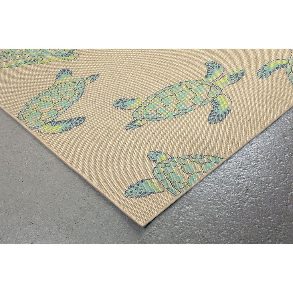 Trans Ocean Imports Liora Manne Playa Sea Turtles Indoor Outdoor Rug