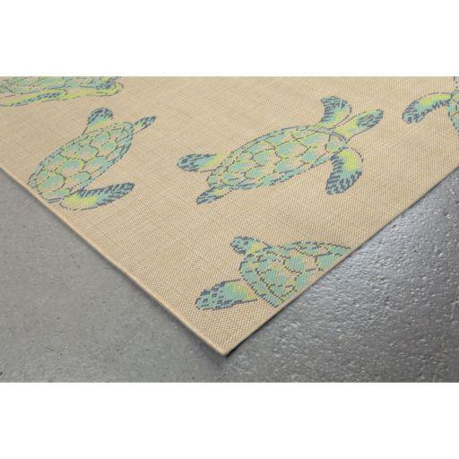 Liora Manne Playa Sea Turtles Indoor Outdoor Rug