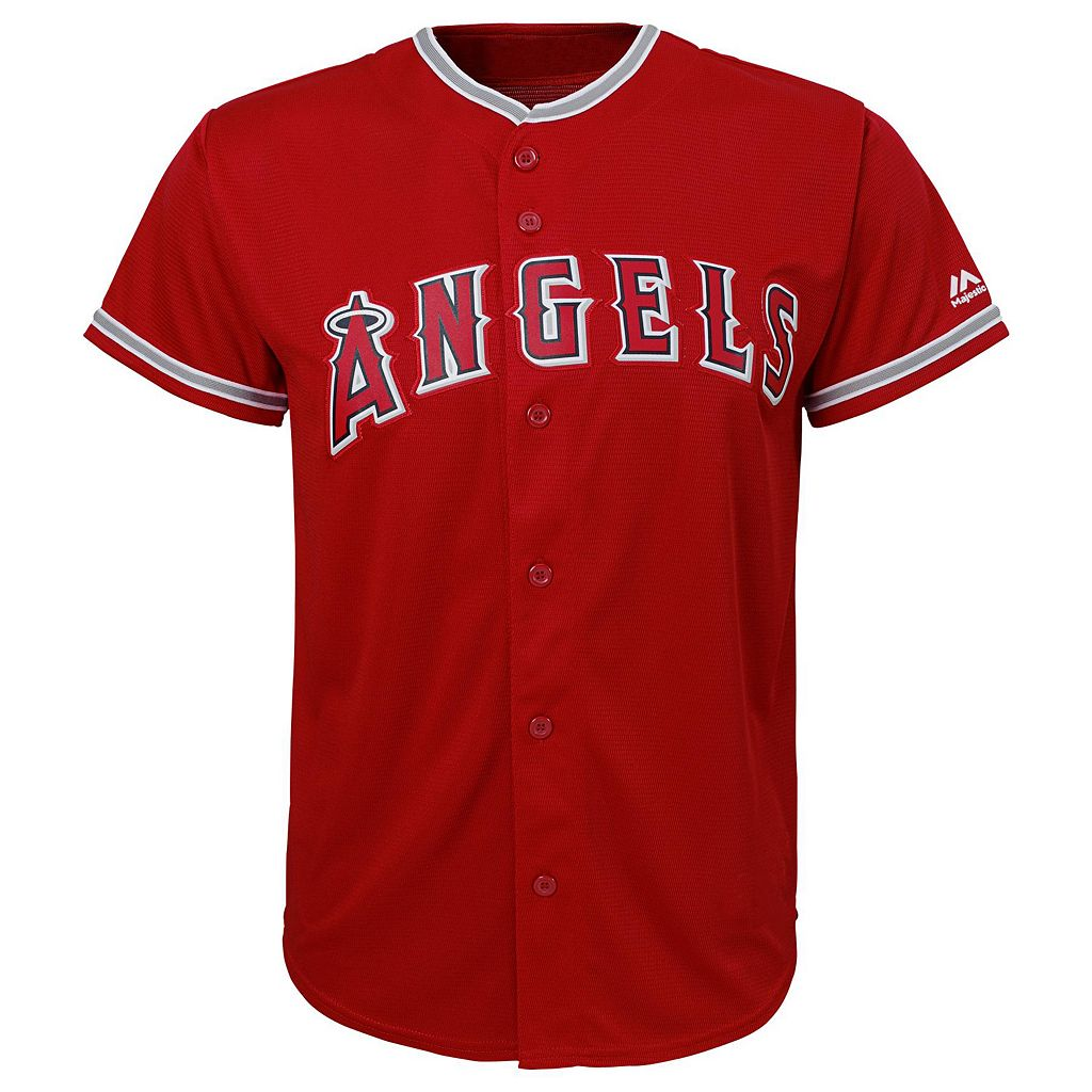 Boys 8-20 Majestic Los Angeles Angels of Anaheim Mike Trout Replica Jersey