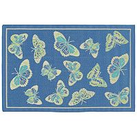 Trans Ocean Imports Liora Manne Playa Butterfly Indoor Outdoor Rug