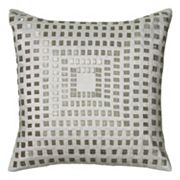 Rizzy Home Geometric Sequins Throw Pillow