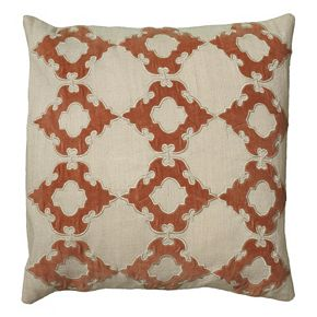 Rizzy Home Elegant Embroidered Throw Pillow