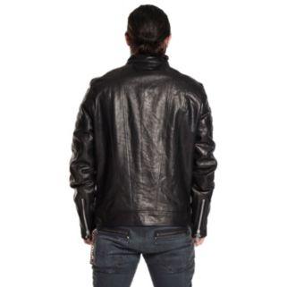 Men's Excelled Leather Café Racer Moto Jacket