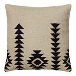 Rizzy Home White and Black Southwestern Throw Pillow
