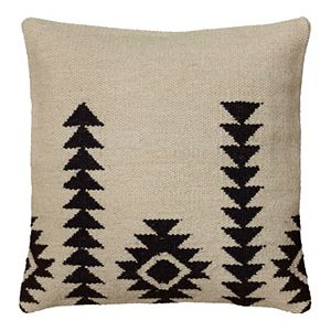 Rizzy Home White and Black Southwestern Throw Pillow