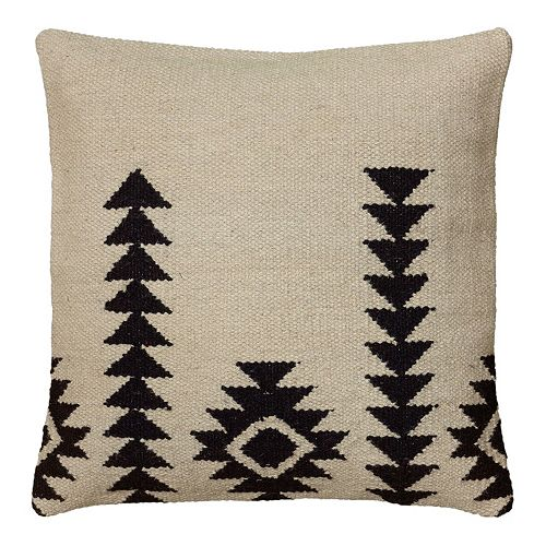 Kohls Black Decorative Pillow : Rizzy Home White and Black Southwestern Throw Pillow