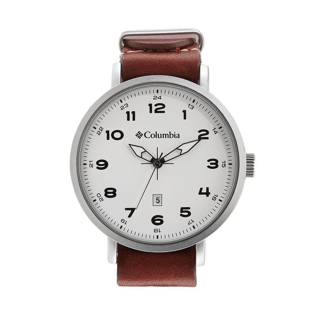 Columbia Men's Fieldmaster III Leather Watch