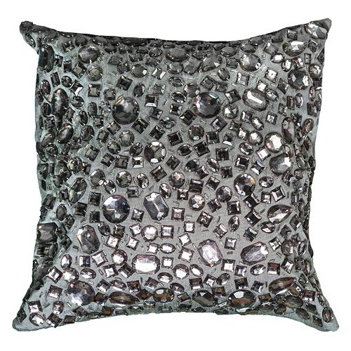 Rizzy Home Jeweled Throw Pillow