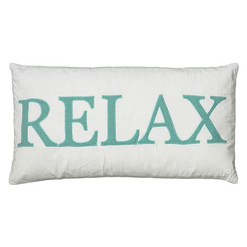 "Rizzy Home ""Relax"" Throw Pillow"
