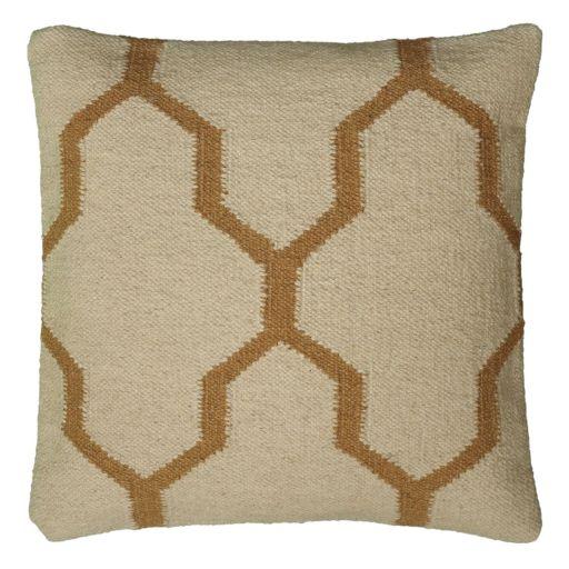 Rizzy Home Quatrefoil Wool Throw Pillow