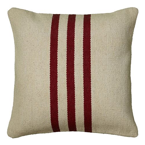 Rizzy Home Striped Wool Throw Pillow