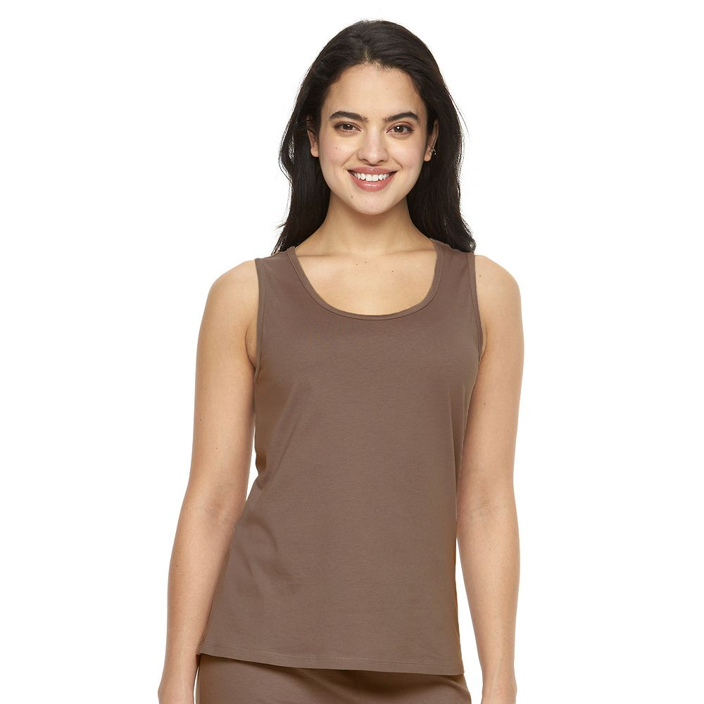Women's Jockey Pajamas: Solid Pajama Tank Twilight