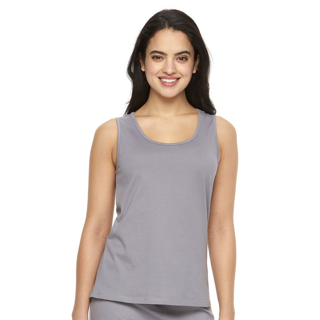 Plus Size Jockey Pajamas: Solid Pajama Tank
