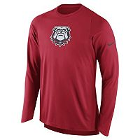 Men's Nike Georgia Bulldogs Elite Shooter Long-Sleeve Tee