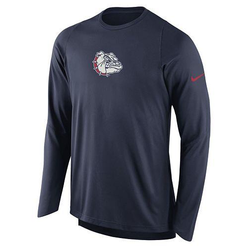 Men's Nike Gonzaga Bulldogs Elite Shooter Long-Sleeve Tee