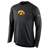 Men's Nike Iowa Hawkeyes Elite Shooter Long-Sleeve Tee