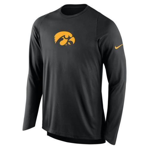 Men's Nike Iowa Hawkeyes Elite Shooter Long-Sleeve Tee