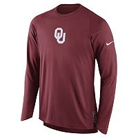 Men's Nike Oklahoma Sooners Elite Shooter Long-Sleeve Tee