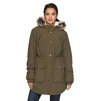 Women's Apt. 9® Hooded Faux-Fur Anorak Parka