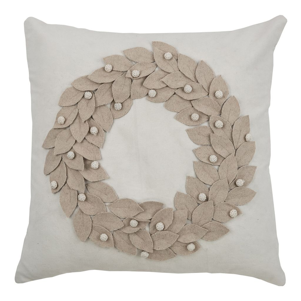 Rizzy Home Wreath Throw Pillow