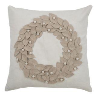 Rizzy Home Wreath Throw Pillow