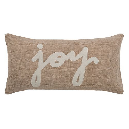 "Rizzy Home ""Joy"" Throw Pillow"