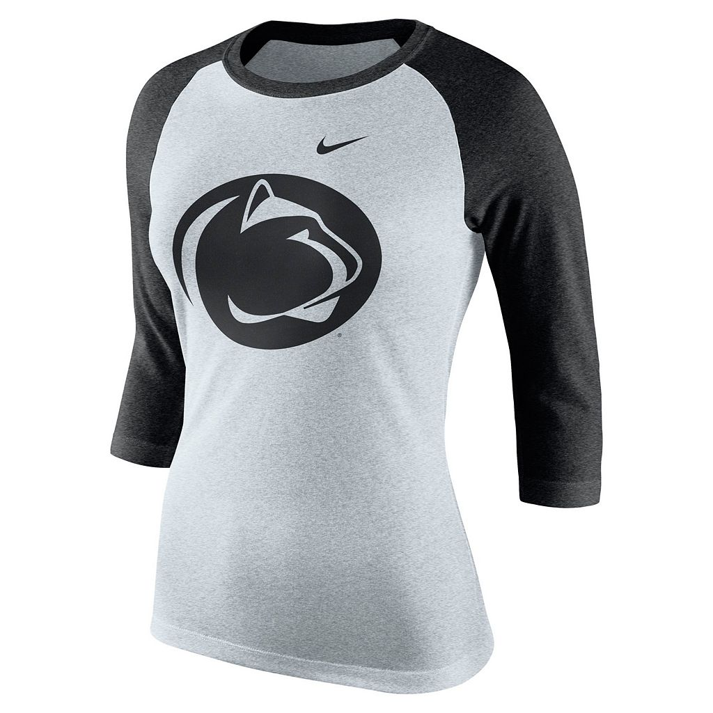 Women's Nike Penn State Nittany Lions Oatmeal Raglan Tee