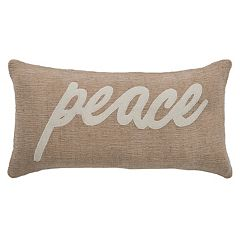 Rizzy Home 'Peace' Throw Pillow