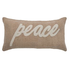 """Rizzy Home """"Peace"""" Throw Pillow"""