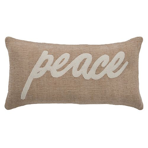 "Rizzy Home ""Peace"" Throw Pillow"