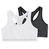 Girls SO® 2-pk. Space-Dyed Racerback Sports Bras