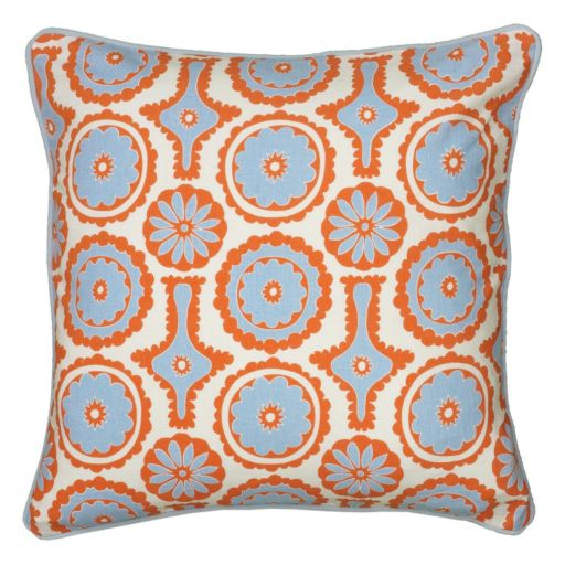 Rizzy Home Abstract Floral Throw Pillow