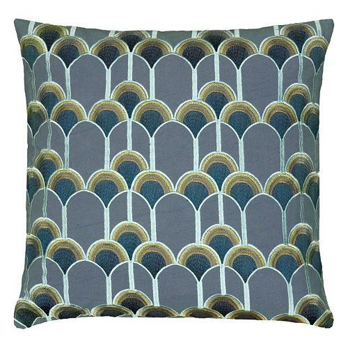 Rizzy Home Peacock Throw Pillow