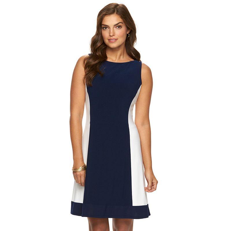 Women's Chaps Colorblock Jersey Shift Dress