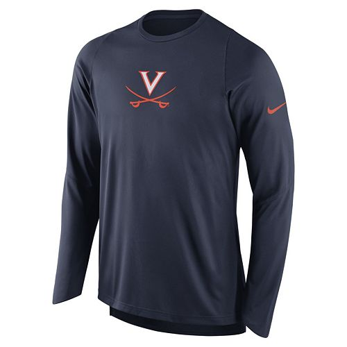 Men's Nike Virginia Cavaliers Elite Shooter Long-Sleeve Tee