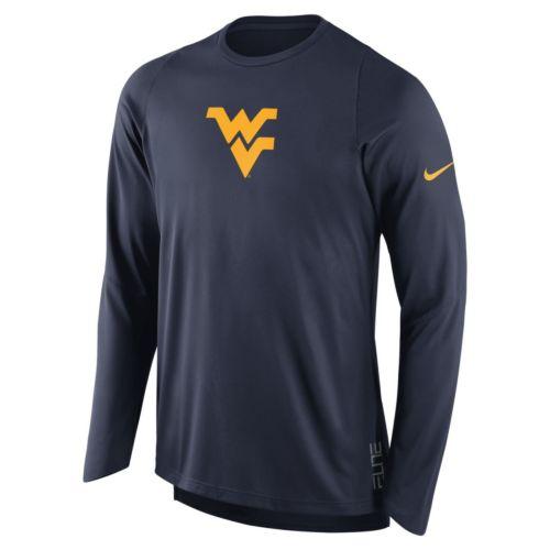 Men's Nike West Virginia Mountaineers Elite Shooter Long-Sleeve Tee