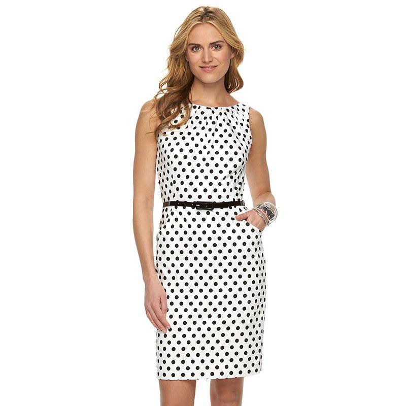 Women's Chaps Polka-Dot Dress