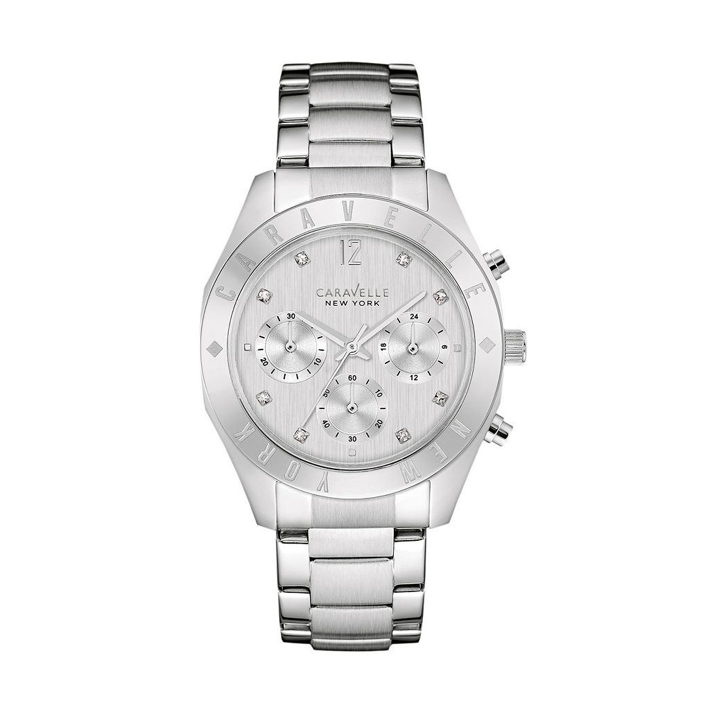 Caravelle New York by BulovaWomen's Crystal Stainless Steel Chronograph Watch - 43L190