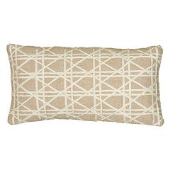 Rizzy Home Geometric Beige Throw Pillow