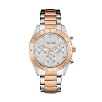 Caravelle New York by Bulova Women's Crystal Two Tone Stainless Steel Chronograph Watch - 45L156