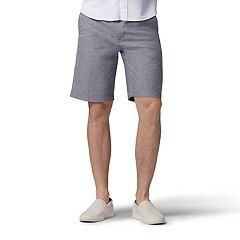 d6ee65120fae Men s Lee Extreme Comfort Flat Front Shorts. Iron Plaid Black White ...